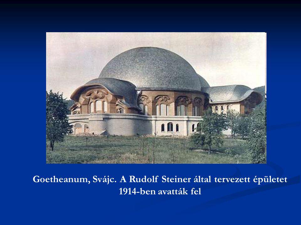 Goetheanum, Svájc. A Rudolf Steiner által tervezett épületet 1914-ben avatták fel