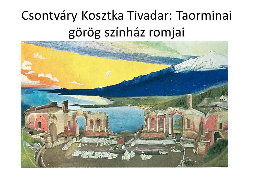 Csontváry Kosztka Tivadar: Taorminai görög színház romjai