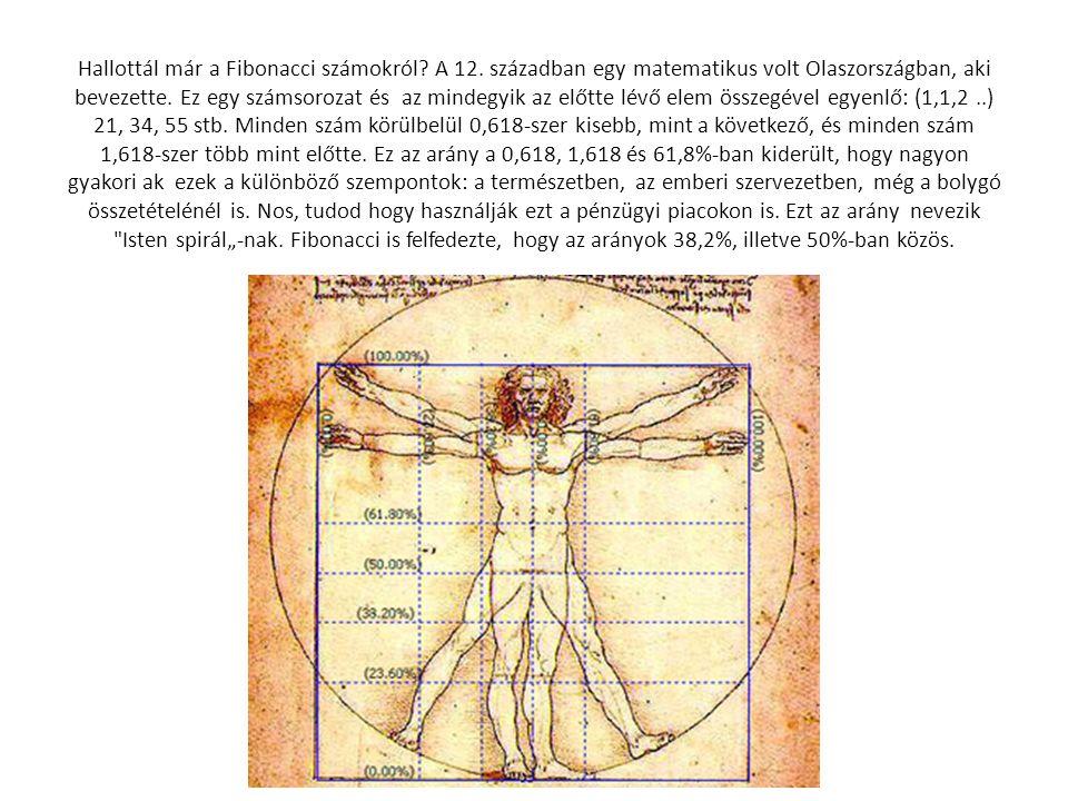 Hallottál már a Fibonacci számokról? A 12. században egy matematikus volt Olaszországban, aki bevezette. Ez egy számsorozat és az mindegyik az előtte