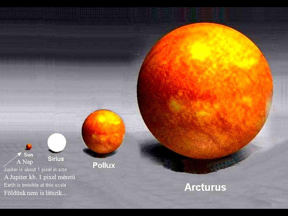 A Nap A Jupiter kb. 1 pixel méretű Földünk nem is látszik...