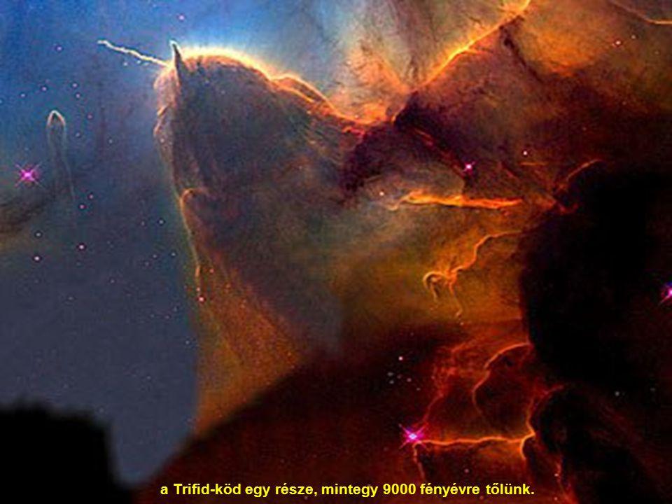 a Trifid-köd egy része, mintegy 9000 fényévre tőlünk.