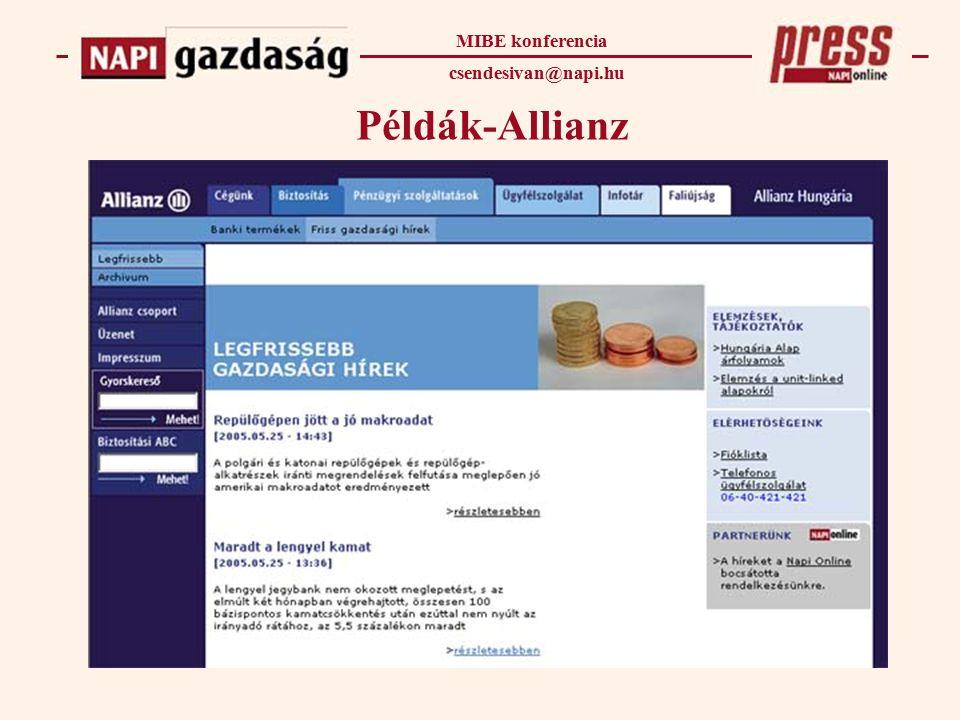 Példák-Allianz MIBE konferencia csendesivan@napi.hu