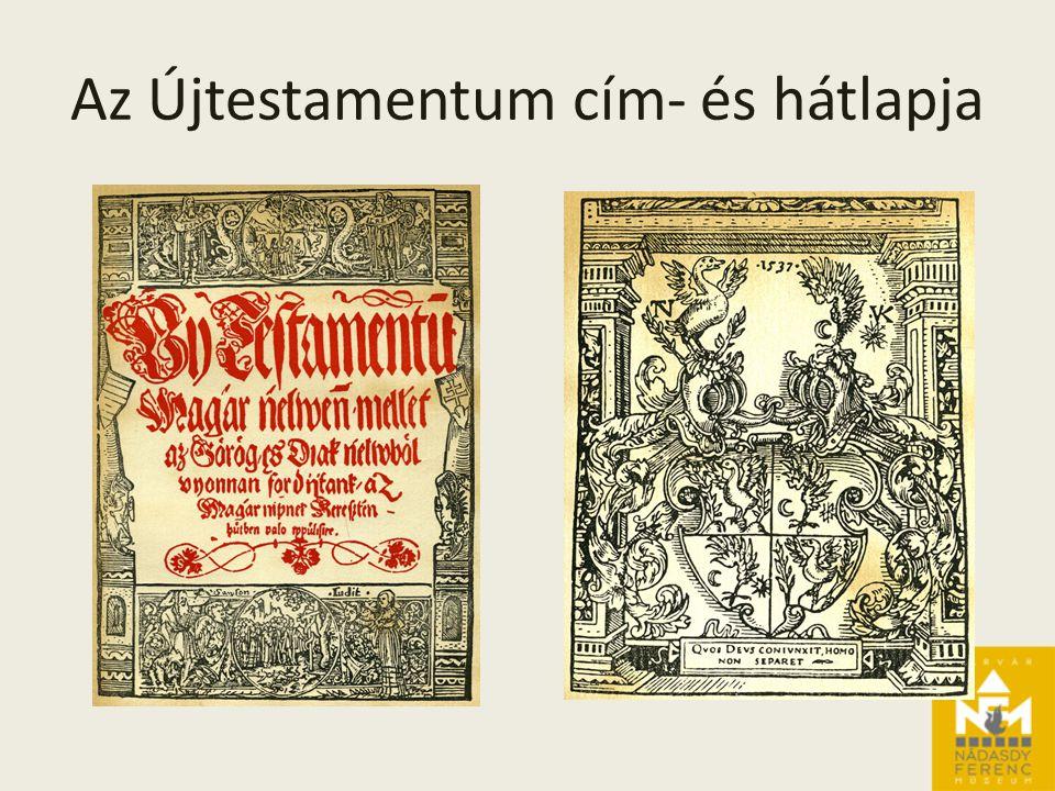 Az Újtestamentum cím- és hátlapja