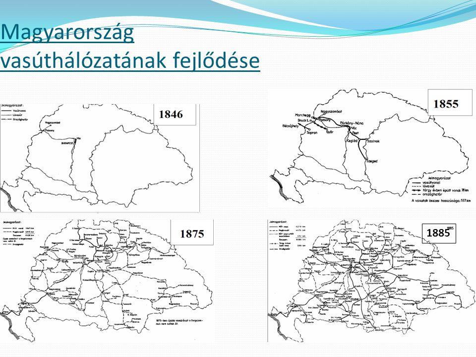Magyarország vasúthálózatának fejlődése 1885