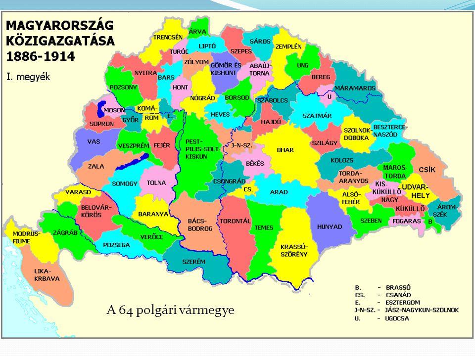 A 64 polgári vármegye