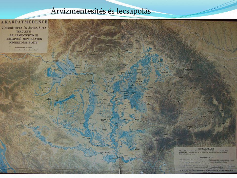 A Tiszántúl vízborította és árvízjárta területei az ármentesítő és lecsapoló munkálatok megkezdése előtt