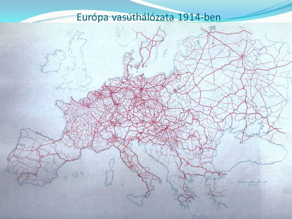 Európa vasúthálózata 1914-ben