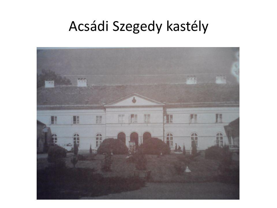 Acsádi Szegedy kastély