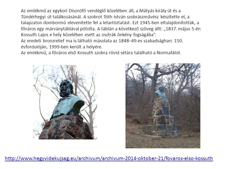 Az emlékmű az egykori Disznófő vendéglő közelében áll, a Mátyás király út és a Tündérhegyi út találkozásánál.