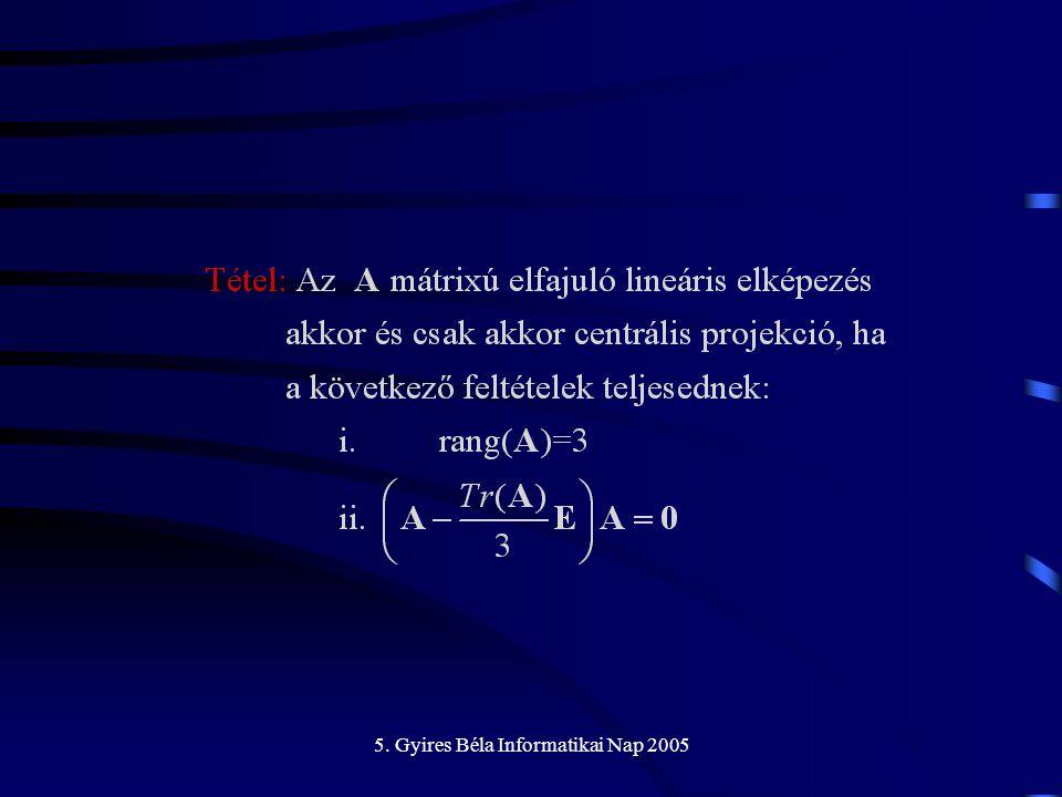 5. Gyires Béla Informatikai Nap 2005