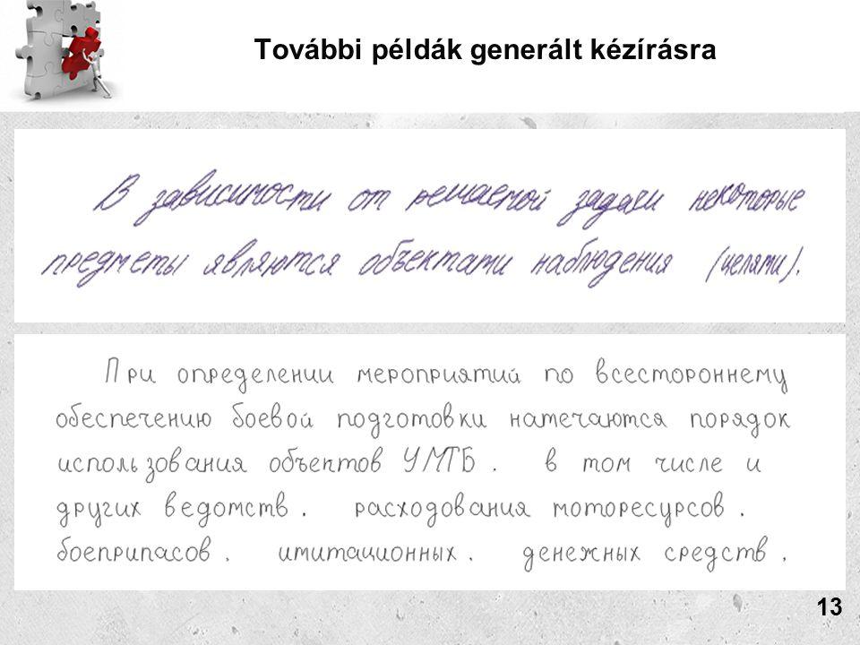 További példák generált kézírásra 13