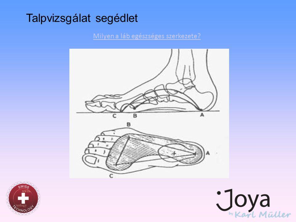 Milyen a láb egészséges szerkezete? Talpvizsgálat segédlet