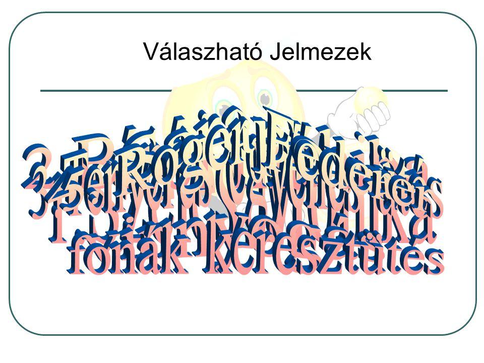 Válaszható Jelmezek