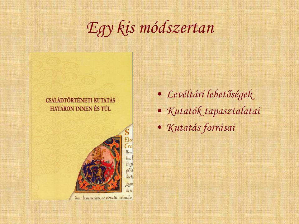 Egy kis módszertan Felekezeti anyakönyvek szerkezete, típusai Törvényi szabályozások Latin-magyar szótár