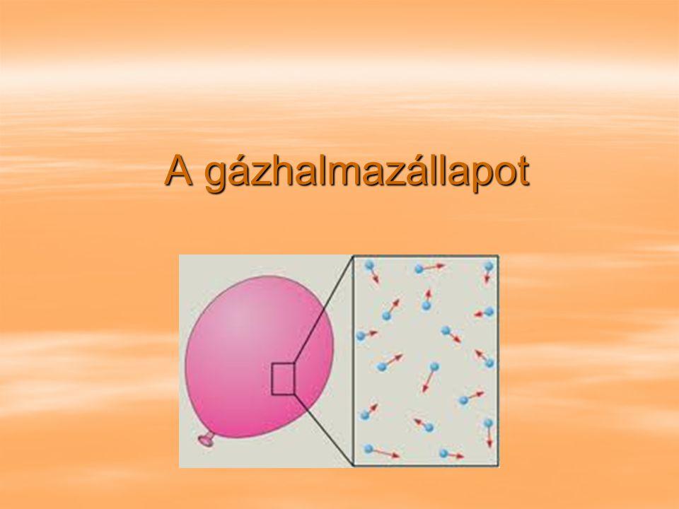 A gázhalmazállapot A gázhalmazállapot