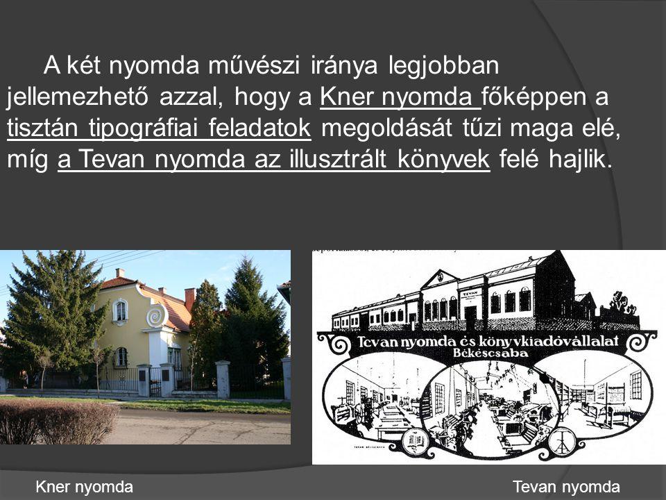 Kner Izidor 1882-ben alapított egyszemélyes nyomdai vállalkozása az első világháborút megelőző évekre 150 fős üzemmé fejlődött.