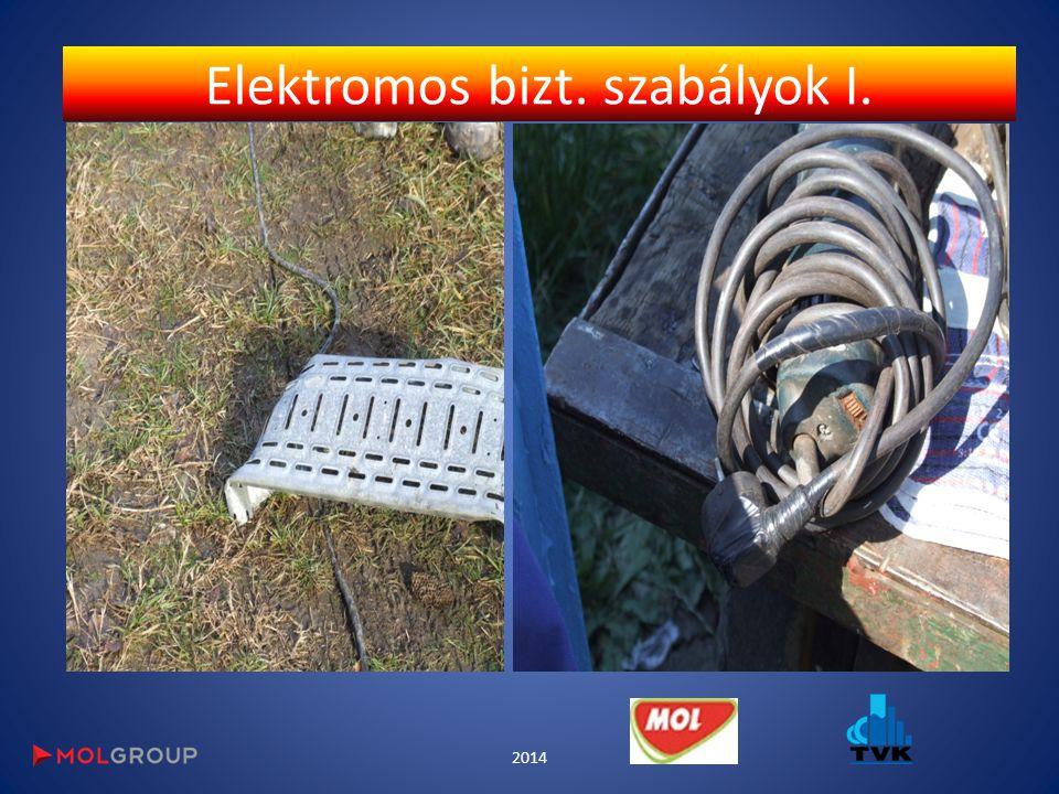 Elektromos bizt. szabályok I. 2014