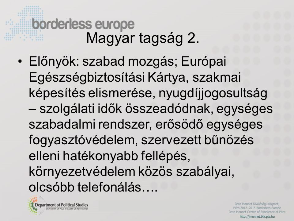 Magyar tagság 2.