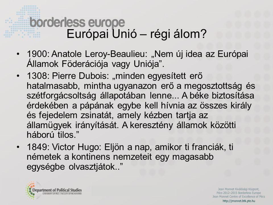 Európai Unió – régi álom.
