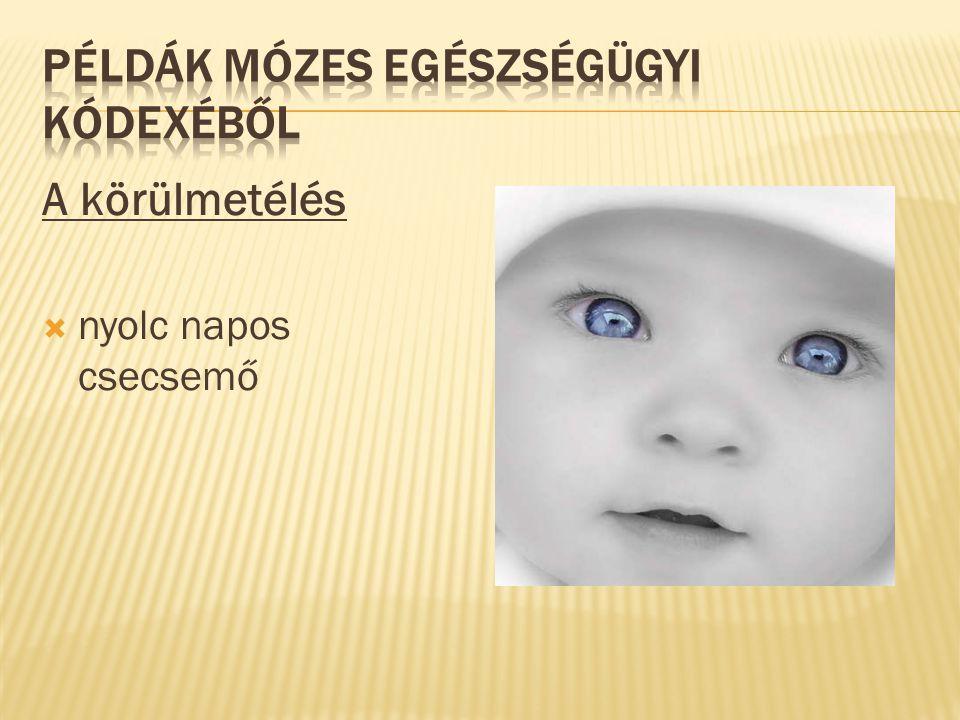 A körülmetélés  nyolc napos csecsemő