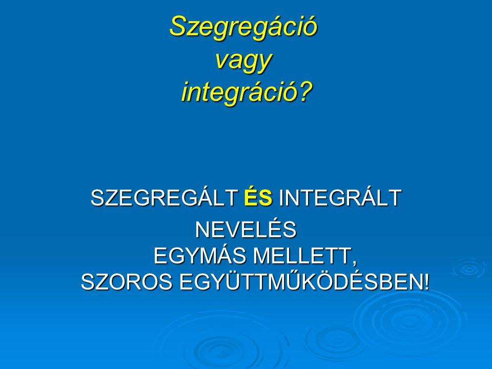 Szegregáció vagy integráció.