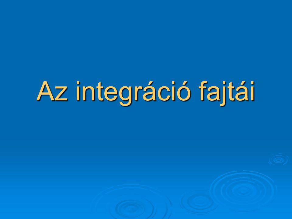 Az integráció fajtái