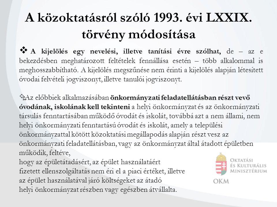 A közoktatásról szóló 1993. évi LXXIX.