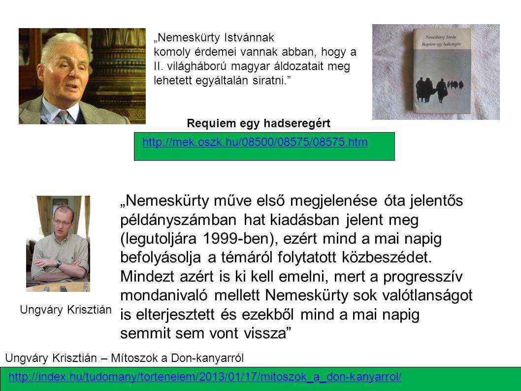 """""""Nemeskürty műve első megjelenése óta jelentős példányszámban hat kiadásban jelent meg (legutoljára 1999-ben), ezért mind a mai napig befolyásolja a t"""
