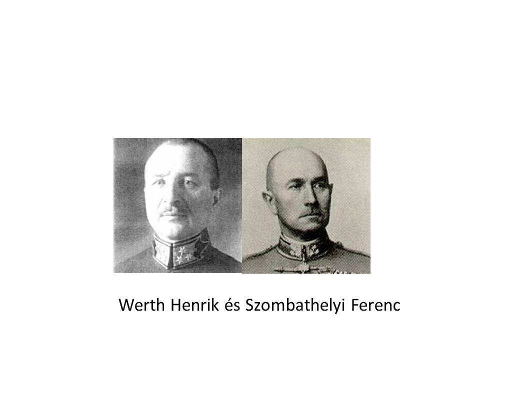 Werth Henrik és Szombathelyi Ferenc