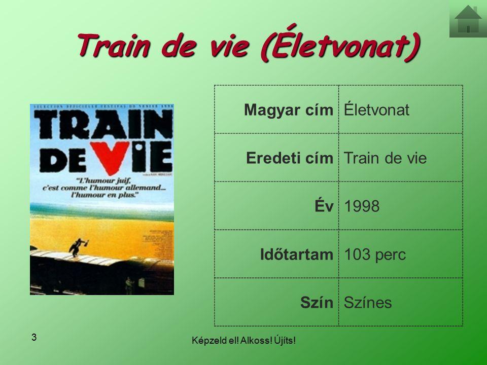 Képzeld el! Alkoss! Újíts! 3 Train de vie (Életvonat) Magyar címÉletvonat Eredeti címTrain de vie Év1998 Időtartam103 perc SzínSzínes