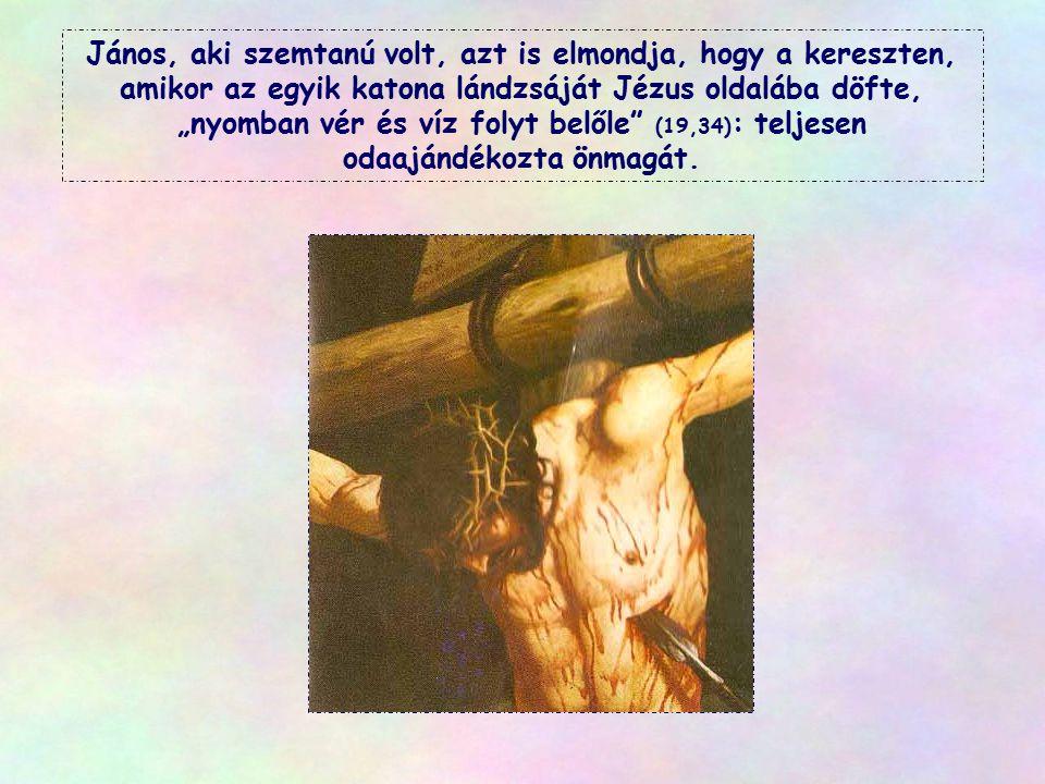 """Amit Jézus ajándékoz nekünk, az """"élő víz"""". Ez jelképezi az általa kinyilatkoztatott Istent, aki Atya és szeretet, aki Szentlélek, isteni élet, amit el"""