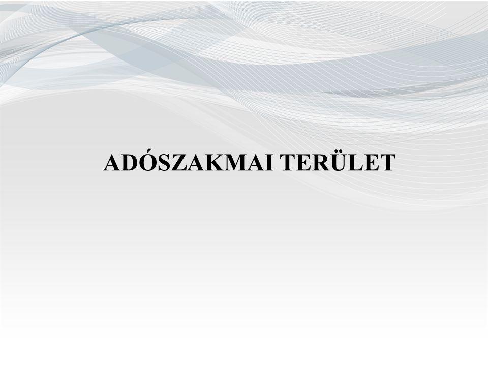 Feltárt nettó adókülönbözet adónemenkénti megoszlása 2013. év2014. év