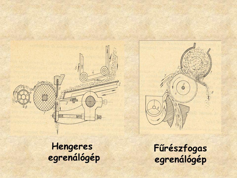 Hengeres egrenálógép Fűrészfogas egrenálógép