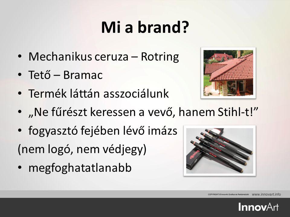 """Mi a brand? Mechanikus ceruza – Rotring Tető – Bramac Termék láttán asszociálunk """"Ne fűrészt keressen a vevő, hanem Stihl-t!"""" fogyasztó fejében lévő i"""