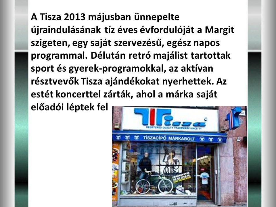 A Tisza 2013 májusban ünnepelte újraindulásának tíz éves évfordulóját a Margit szigeten, egy saját szervezésű, egész napos programmal. Délután retró m