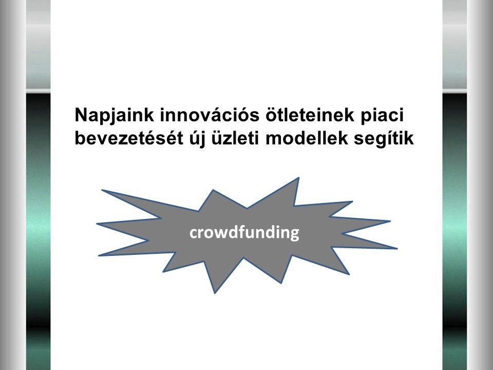 Napjaink innovációs ötleteinek piaci bevezetését új üzleti modellek segítik crowdfunding