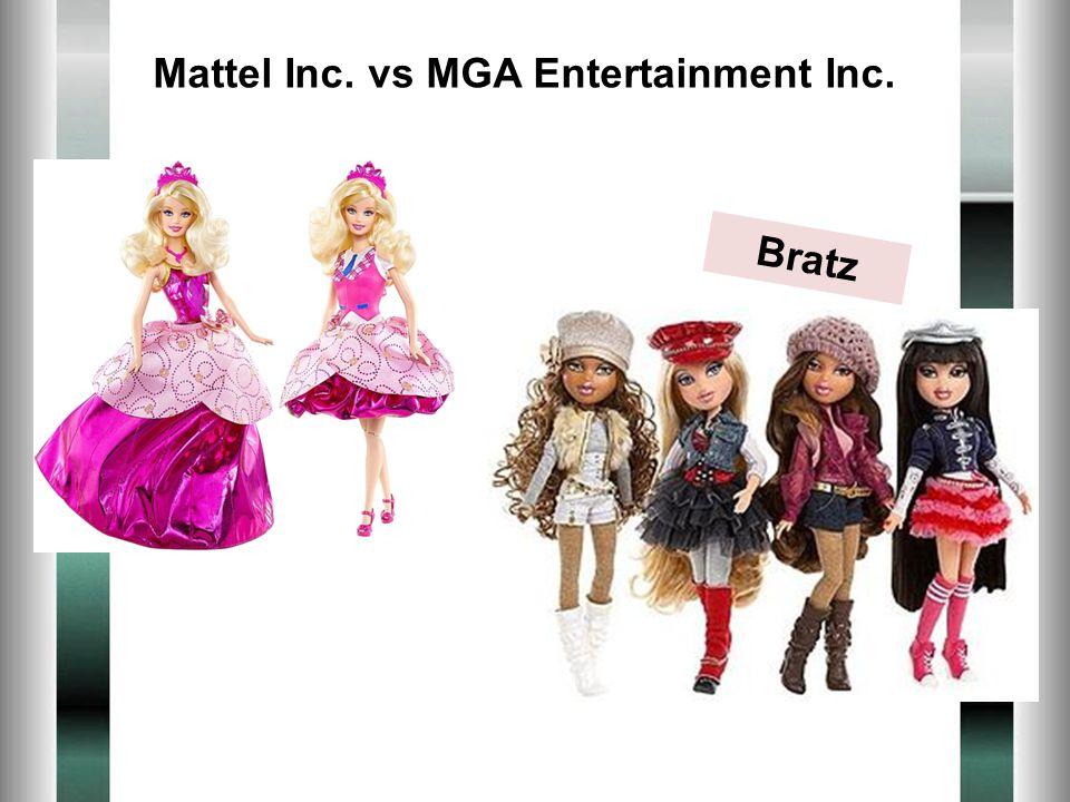 Bratz Mattel Inc. vs MGA Entertainment Inc.