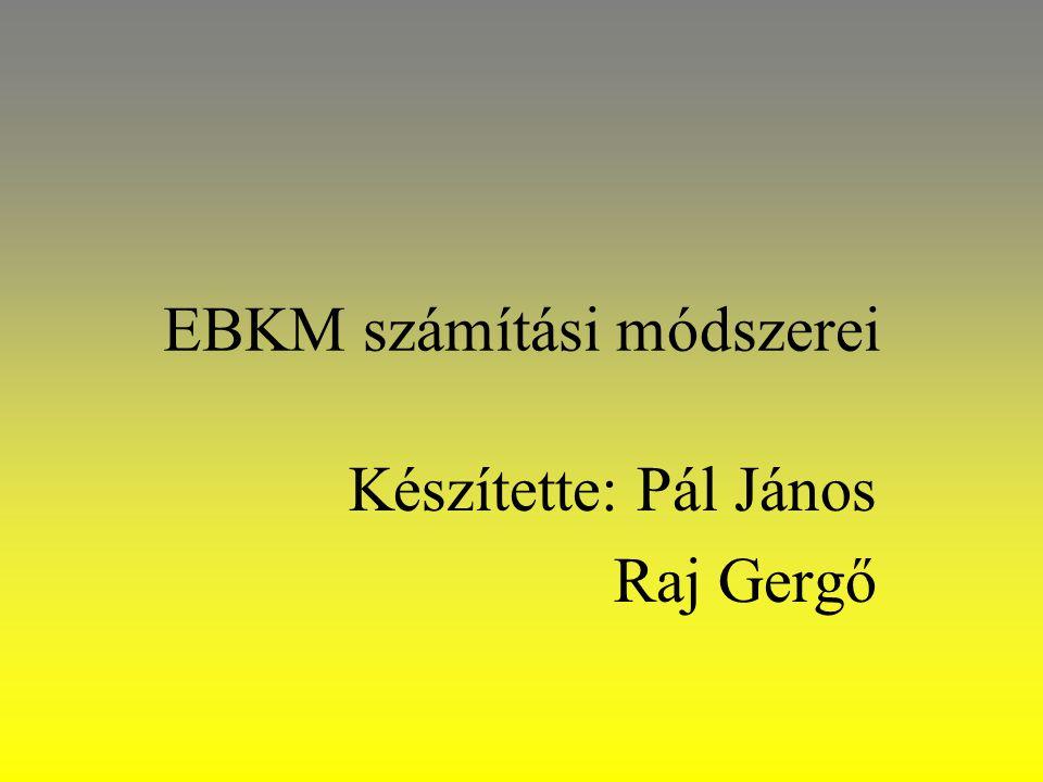 EBKM számítási módszerei Készítette: Pál János Raj Gergő
