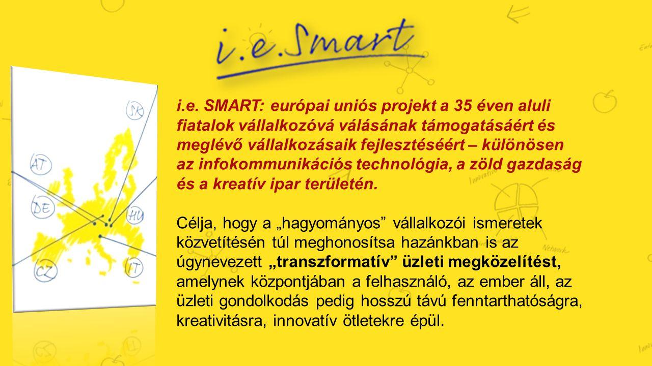 i.e. SMART: európai uniós projekt a 35 éven aluli fiatalok vállalkozóvá válásának támogatásáért és meglévő vállalkozásaik fejlesztéséért – különösen a