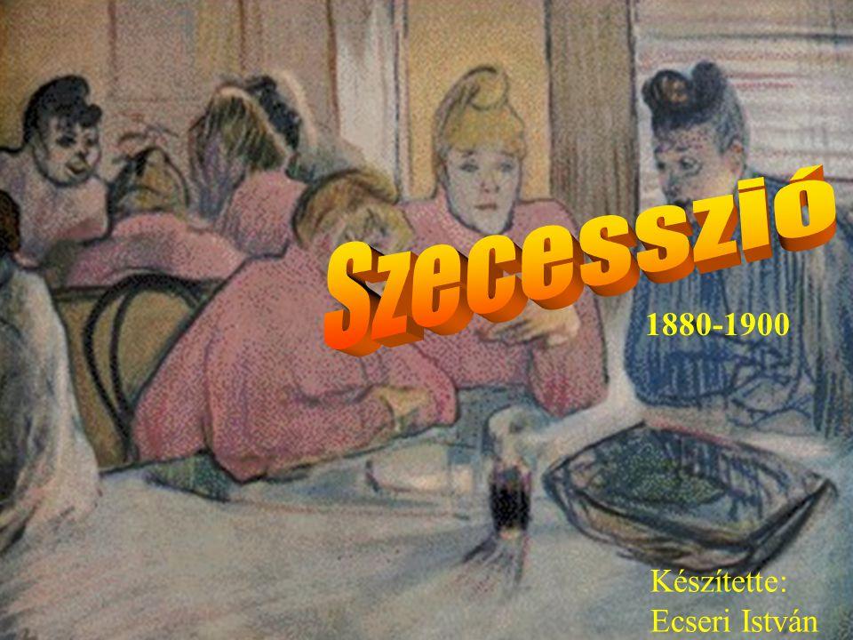 Ecseri Elkülönülés az akadémizmustól, korszerű, a modern élet stílusát és lendületét kifejező formák keresése, mintegy két évtizedig tartott, az építőművészetben jelentősebb Megalapítója Gustav Klimt ( 1898) és Henry de Toulouse-Lautrec