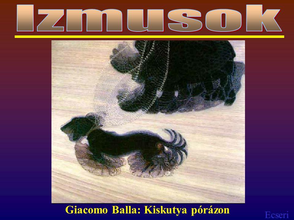 Ecseri Giacomo Balla: Kiskutya pórázon