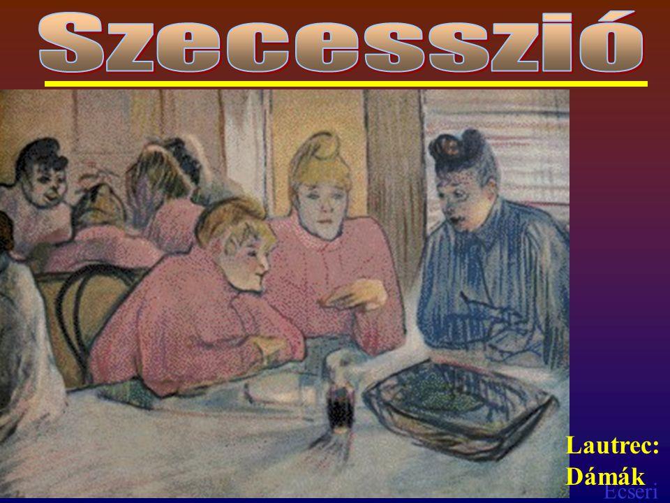 Ecseri Expresszionizmus (1900) A stílusok ellen (akadémizmus és az impresszionizmus) ellen irányuló képzőművészeti irányzat, Az ember felszín mögötti lényét, ösztönvilágát akarta feltárni Vaszilij Kandinszkij, Franz Mark, Eduard Munch, Oschar Kokoschka