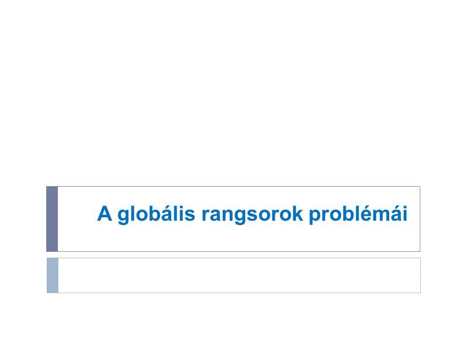 A globális rangsorok problémái