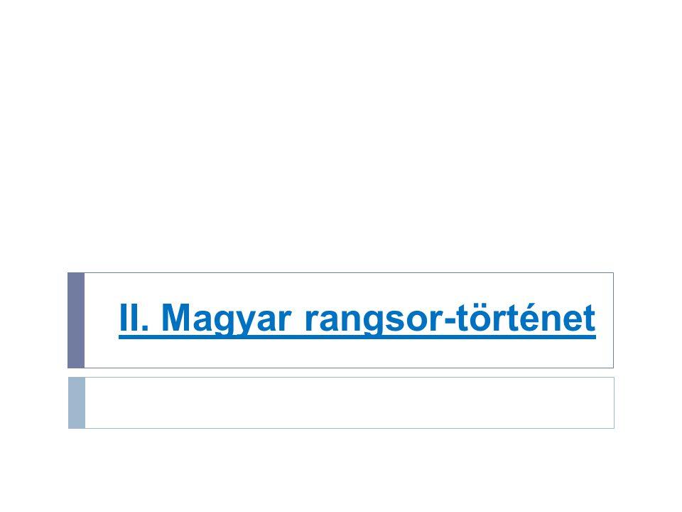 II. Magyar rangsor-történet