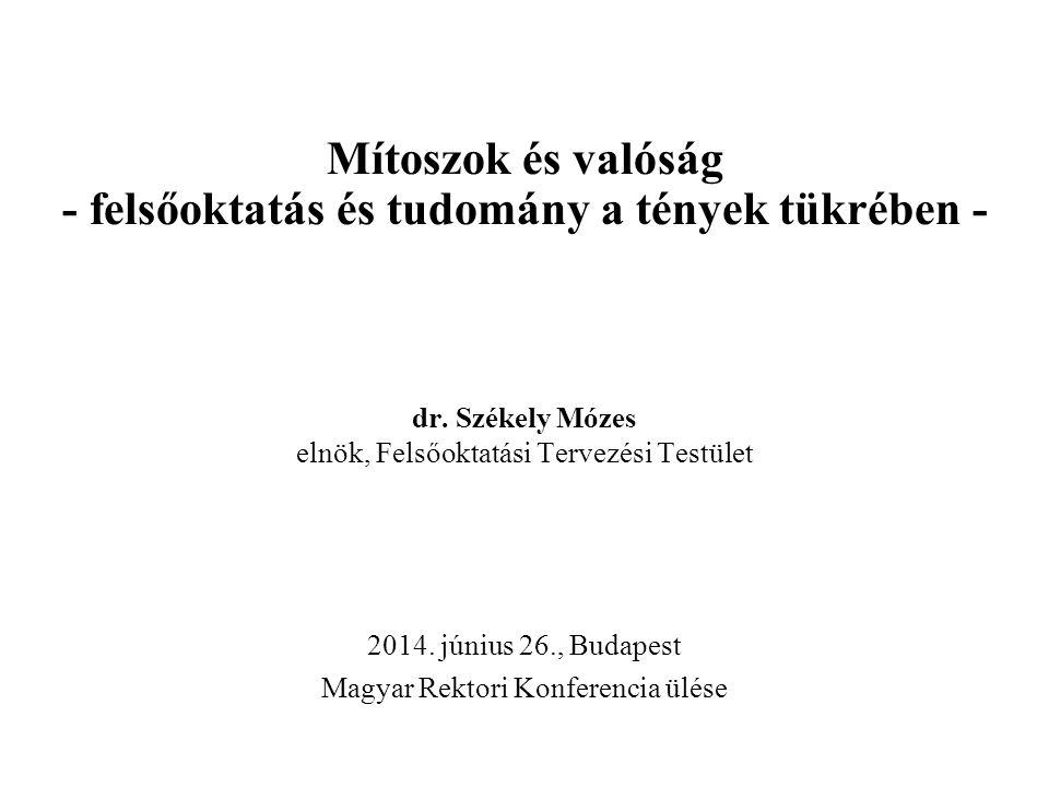 dr. Székely Mózes elnök, Felsőoktatási Tervezési Testület 2014.