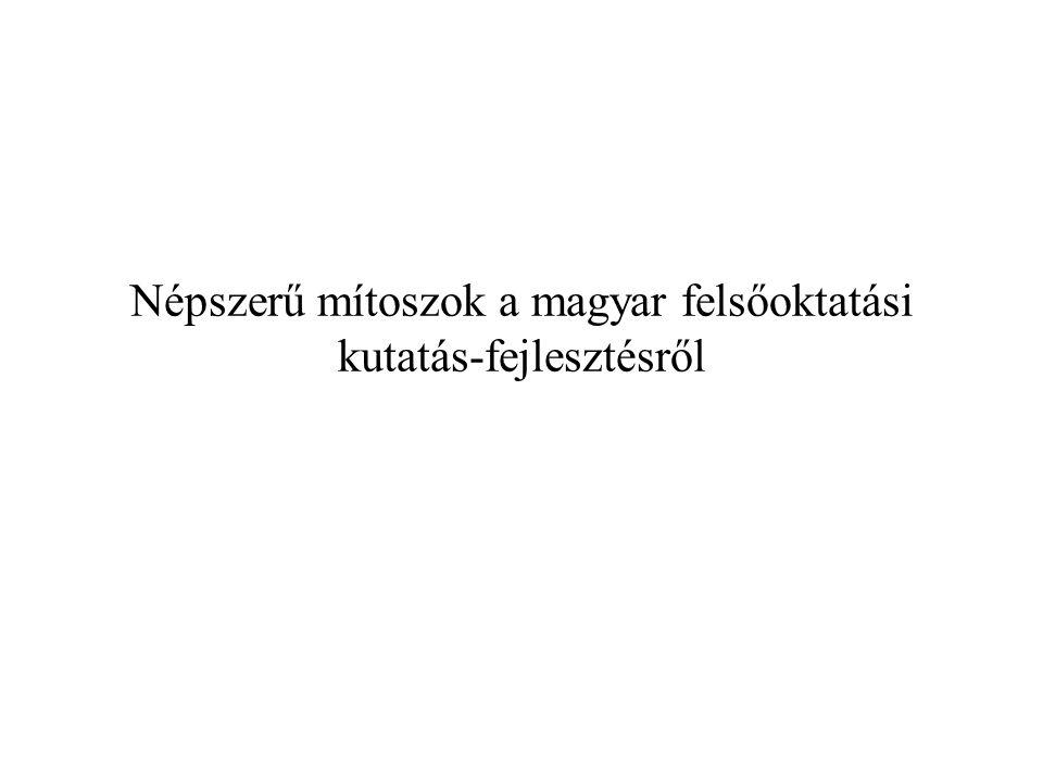 Népszerű mítoszok a magyar felsőoktatási kutatás-fejlesztésről