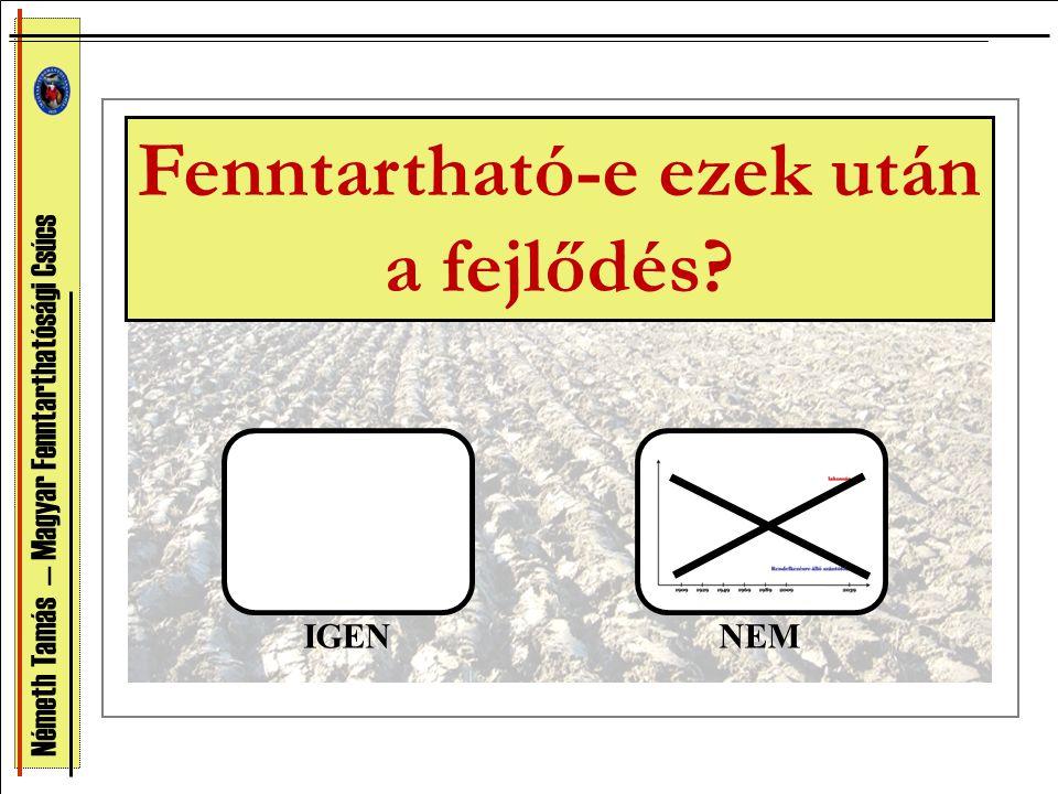 Németh Tamás — Magyar Fenntarthatósági Csúcs Fenntartható-e ezek után a fejlődés? IGENNEM