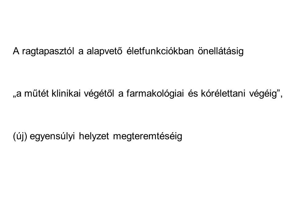 Ajánlások, 1990-2010 Ilias W.Postoperative Care Logistics, Liability and Practical Guidance.