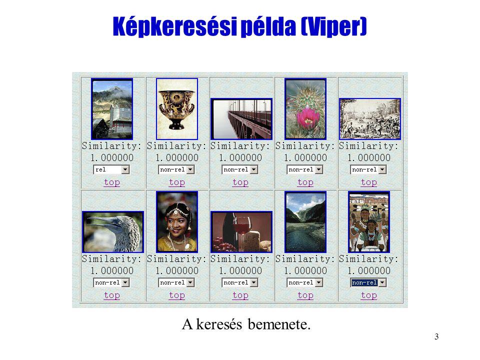 3 Képkeresési példa (Viper) A keresés bemenete.