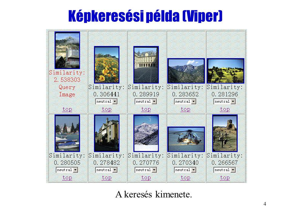 4 Képkeresési példa (Viper) A keresés kimenete.